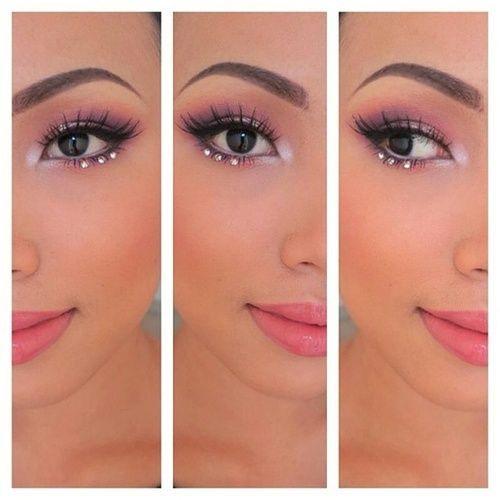rhinestone makeup, prom inspo, prom makeup looks, prom 2016